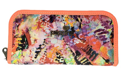 Billetera cierre simple multicolor cierre turquesa