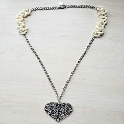 Collar cadena eslabón 70 cm corazón